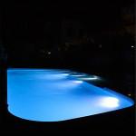 Illuminazione piscina led celeste