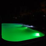 Illuminazione piscina led verde